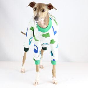 Fleece Dinosaur Pyjamas | Italian Greyhound Clothing | Iggy Wear